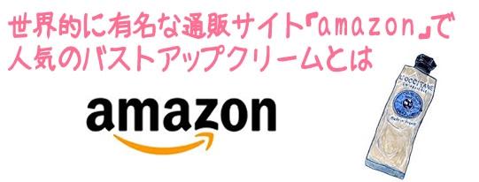 世界的に有名な通販サイト「amazon」で人気のバストアップクリームとは