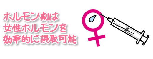 ホルモン剤は女性ホルモンを効率的に摂取可能